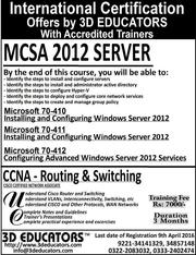 MCSA and CCNA Training