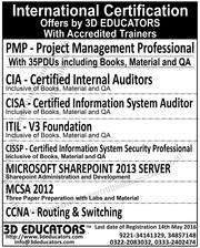 International Certifications By 3D Educators