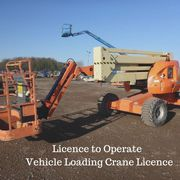 Licence to Operate Vehicle Loading Crane Licence